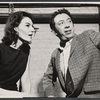 Marian Seldes and Gene Trobnic in rehearsal for the stage production Before You Go