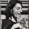 Marian Seldes and L.P. (the dog) in rehearsal for the stage production Before You Go