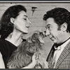 Marian Seldes, L.P. (the dog), and Gene Trobnic in rehearsal for the stage production Before You Go