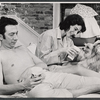 Gene Trobnic, Marian Seldes, and L.P. (the dog) in the stage production Before You Go