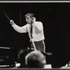 Leonard Bernstein in rehearsal for the TV music series The Bell Telephone Hour