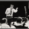 Leonard Bernstein and orchestra in rehearsal for the TV music series The Bell Telephone Hour
