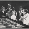 Unidentified children and Leonard Bernstein in rehearsal for the TV music series The Bell Telephone Hour