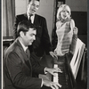 John Kander (playing piano), Fred Ebb and Jill Haworth during rehearsals for the stage production Cabaret