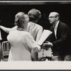 Hal Prince (far right) and cast during rehearsals for the stage production Cabaret