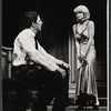 Bert Convy and Jill Haworth in the stage production Cabaret