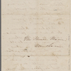 Mann, Mary [Tyler Peabody], ALS to. Jul. 26, 1844.