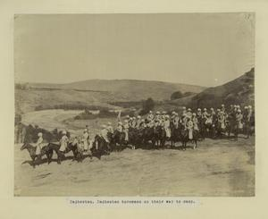 [Daghestan. Daghestan horseman on their way to camp.]