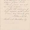 Ticknor, [William D.], ALS to. Oct. 26, 1854.