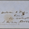 Ticknor, [William D.], ALS to. Feb. 27, 1856.