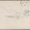 Ticknor, [William D.], ALS to. Apr. 19, 1860.