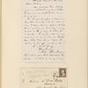 Ticknor, [William D.], ALS to. Jun. 28, [1860].
