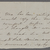 [Mann], Mary [Tyler Peabody], ALS to. [1852?].