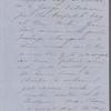 [Mann], Mary [Tyler Peabody], ALS to. [Oct. -] Nov. 1, [1853].