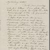 [Mann], Mary [Tyler Peabody], ALS to. [n.m.] [18-]19, [1863?].