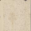 Peabody, Elizabeth [Palmer], mother, ALS to. Thursday [Jun.?] [1831?].