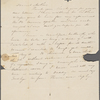 Peabody, Elizabeth [Palmer], mother, ALS to. [Jun.?] [1831?] [second].