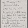 Peabody, Elizabeth [Palmer], mother, ALS  to. Jun. 6-7 [i.e. Jul. 6-7], 1843.