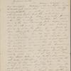 Peabody, Elizabeth [Palmer], mother, AL (incomplete) to. Nov. 19, [1843].