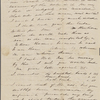 Peabody, Elizabeth [Palmer], mother, ALS to. Apr. 22, 1844.