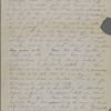 Peabody, Elizabeth [Palmer], mother, AL (incomplete) to. Jan. 27, 1851.
