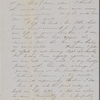 Peabody, Elizabeth [Palmer], mother, ALS to. Aug. 23, 1852.