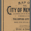 Map of the city of New York : the imperial city of the new world, embracing the entire city limits, based upon official surveys