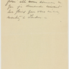 Letter to Auguste Rodin