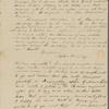 Peabody, Elizabeth P[almer, sister], ALS to. Jul. 20, 1823.