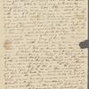 Peabody, Elizabeth Palmer, [sister], ALS to. Mar. 6, [1824].