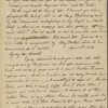Peabody, Elizabeth P[almer, sister], ALS (incomplete) to. Apr. [?]-20, 1824.