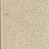 Peabody, Elizabeth P[almer, sister], ALS to. [1825?].