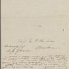 Peabody, E[lizabeth] P[almer, sister], ALS to. [1826 or 1827]