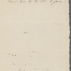 Peabody, Elizabeth P[almer, sister], ALS to. [1827?]. With ANS from Lydia Haven.