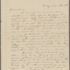 [Peabody, Elizabeth Palmer or Mary Tyler], sister, AL (incomplete) to. [May] 20, [1831?].