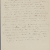 [Peabody], Elizabeth [Palmer, sister], ALS to. [Jul.?] 18-19, [1833?].