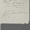 [Peabody,] Elizabeth [Palmer, sister], ALS to. [spring, 1836?].
