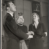 Elliot Reid, Louise Hoff, and Hermione Gingold in rehearsal for the stage production From A to Z