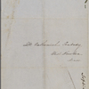 Peabody, Nathaniel, father, ALS to. Feb. 27, 1853.