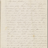 Peabody, Nathaniel, father, ALS to. Mar. 27, 1853.