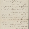 Haven, S[amuel] F[oster], ALS to Miss [Elizabeth Palmer] Peabody. Mar. 9, 1871.