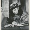 Elia Kazan reading script during filming of On the Waterfront.