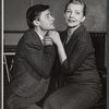 Roddy McDowall and Polly Rowles in rehearsal for the stage production Look After Lulu