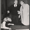 Cyril Ritchard, Noel Coward, Roddy McDowall and Tammy Grimes in a publicity pose for the stage production Look After Lulu