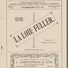 La Loie Fuller Dance Program, Boston Theater