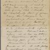 Peabody, E[lizabeth] P[almer, sister], ALS (incomplete) to. [1850?].