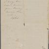 Peabody, Elizabeth P[almer, sister], ALS to. Mar. 26, 1851.