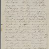 [Peabody,] Elizabeth [Palmer, sister], AL (incomplete)  to. Aug. [6?]- 7, [1856?].