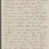 [Peabody, Elizabeth Palmer, sister], ALS (fragment) to. [Apr./May, 1860].