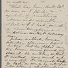 [Peabody,] Elizabeth [Palmer, sister], ALS to. [1860?].